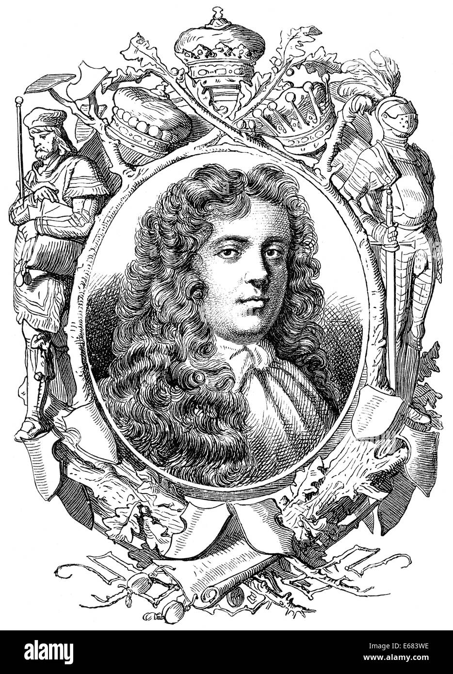 James Scott, 1st Duke of Monmouth, 1649 - 1685, English pretender to the throne, commander and leader of the Monmouth - Stock Image