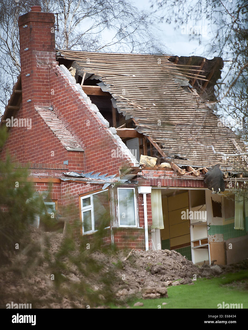 Percy Throwers old house demolished. - Stock Image
