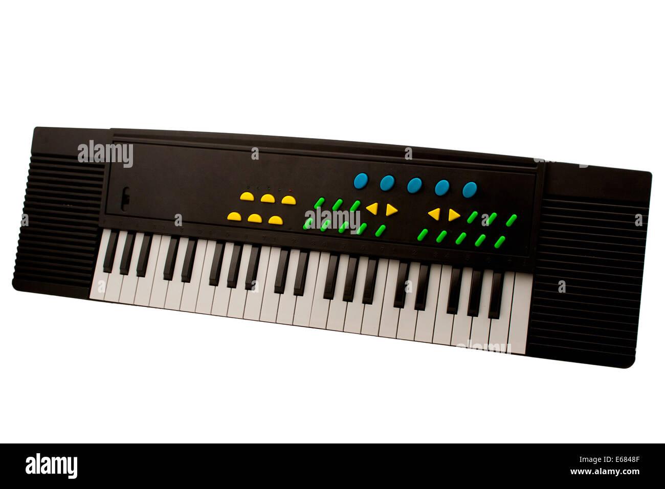 Synthesizer isolated on white background Electronic keyboard isolated on a white background - Stock Image