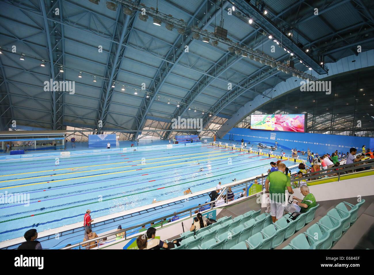 Nanjing, China. 18th Aug, 2014. Nanjing Olympic Sports Center Natatorium, August 18, 2014 - Swimming : Nanjing Olympic - Stock Image