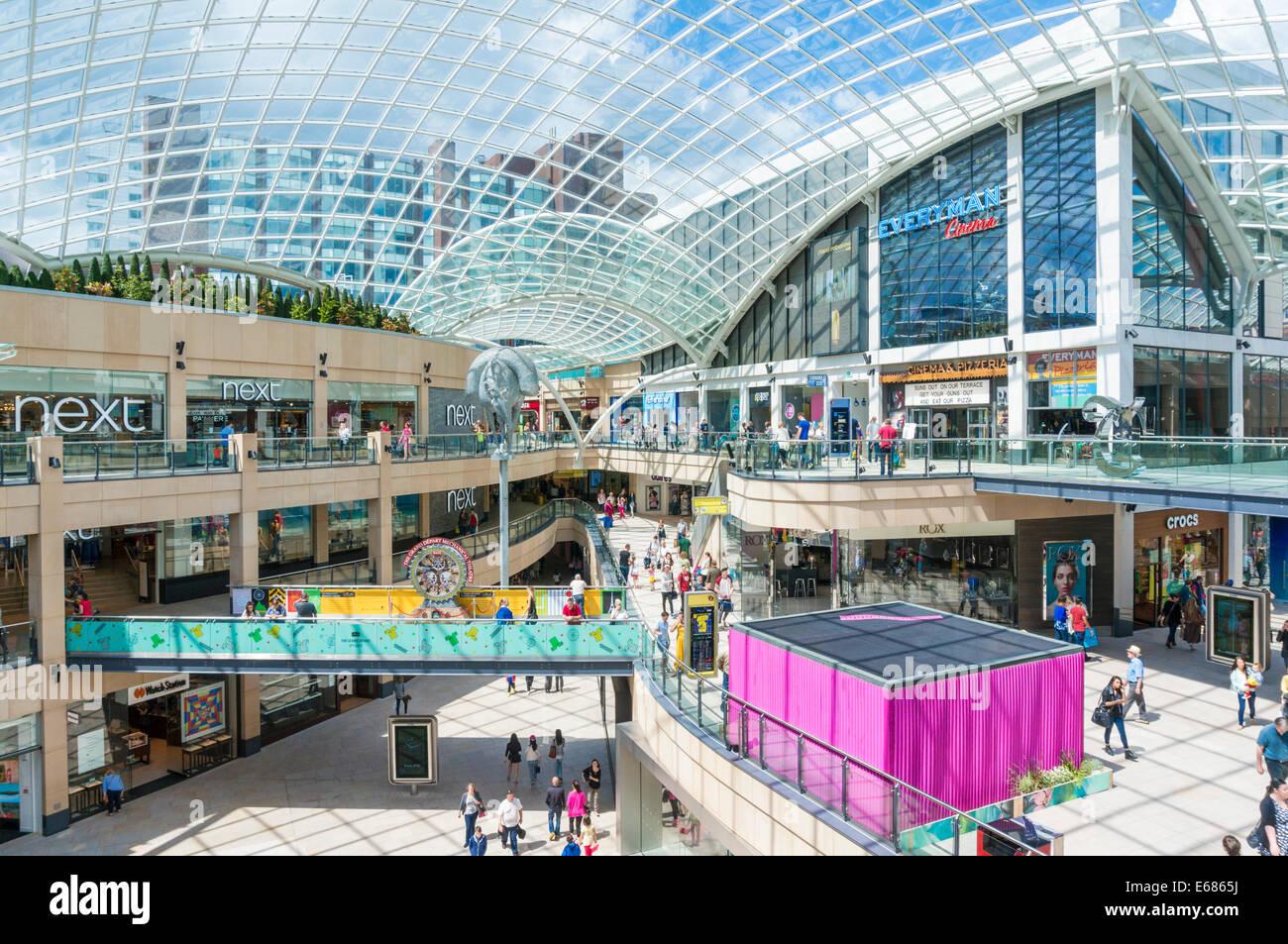 Trinity Leeds Shopping Centre Leeds West Yorkshire England UK GB EU Europe - Stock Image