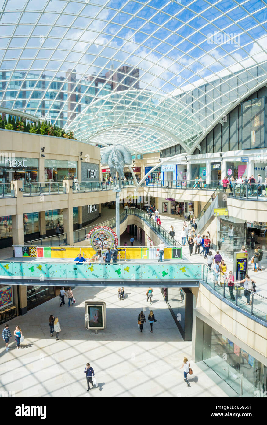 Trinity Leeds Shopping Centre Leeds West Yorkshire England UK GB EU Europe - Stock Image