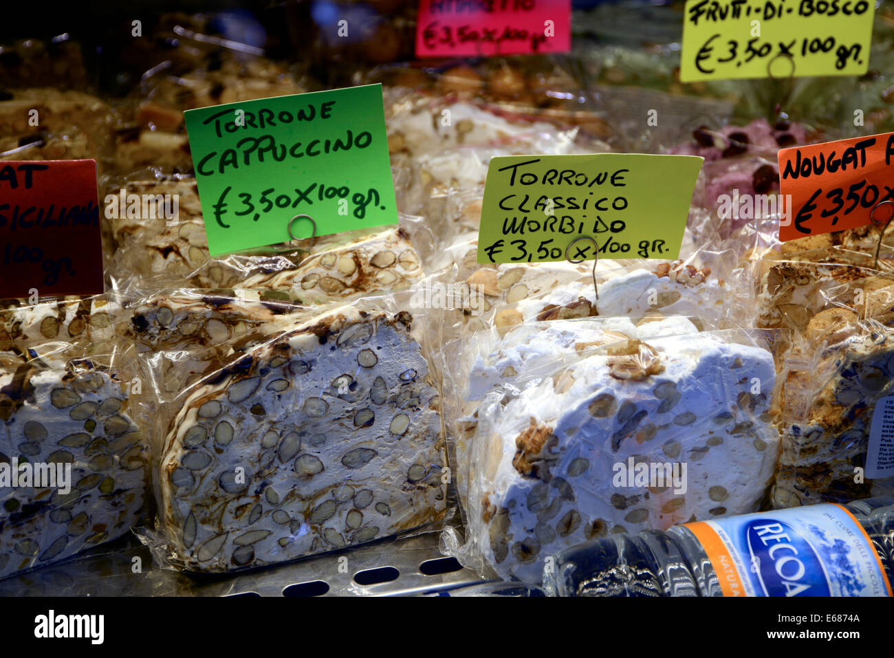 Italy Venice San Polo Torrone and Nougat for Sale - Stock Image