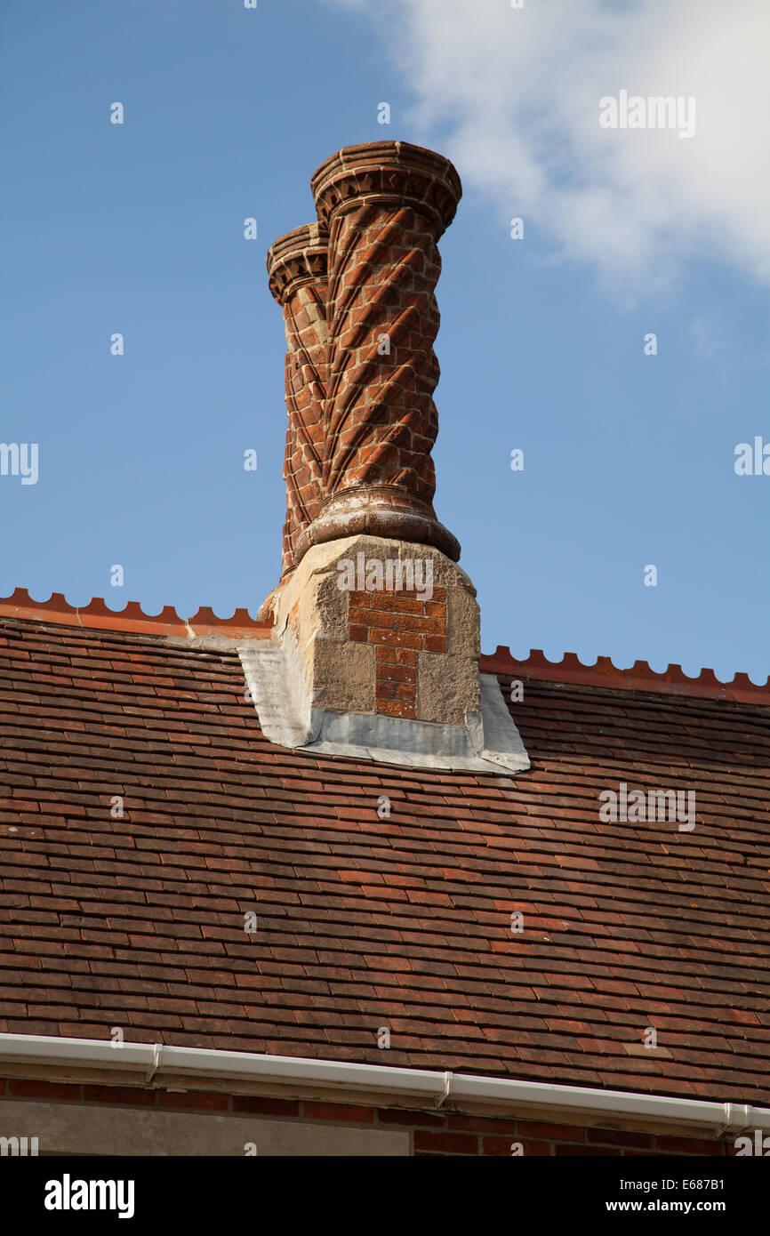 Decorative Chimney Stacks Yarmouth Isle Of Wight UK   Stock Image