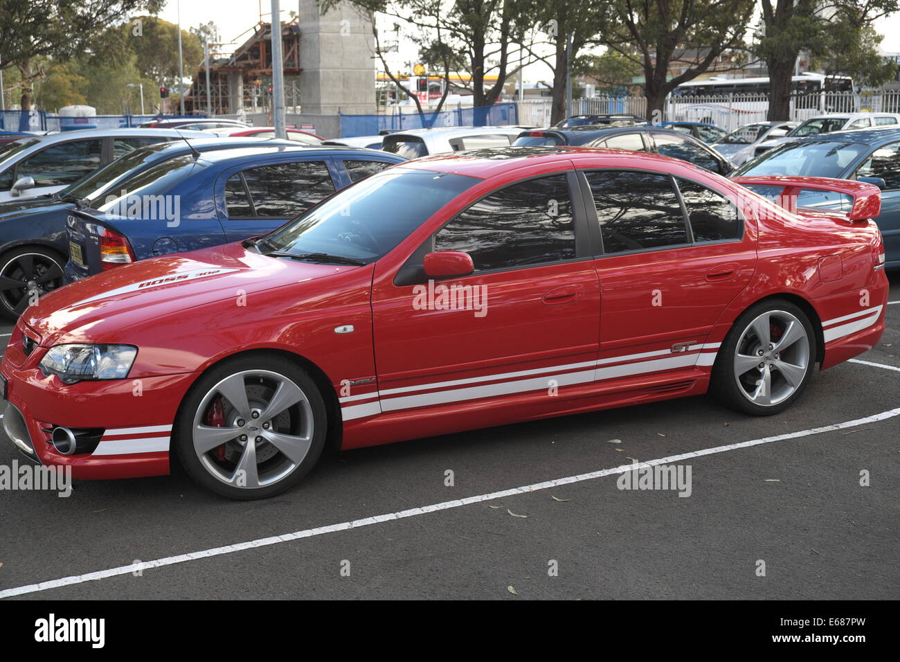 FORD FPV, ford performance vehicles GT , sports saloon car in sydney - Stock Image
