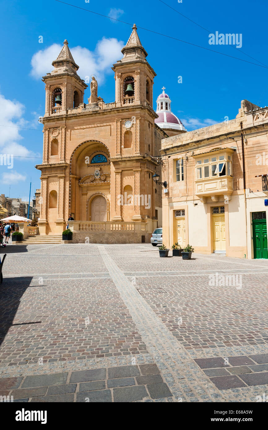Marsaxlokk is a traditional fishing village located in the south-eastern part of Malta. - Stock Image