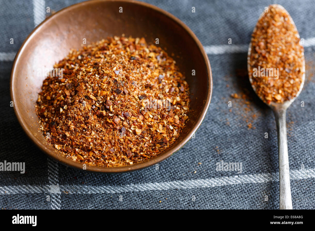Merquén,a smoked chili pepper is a traditional condiment in Mapuche cuisine in Chile and other Andean regions. - Stock Image