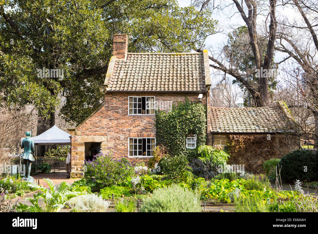 Cook's Cottage in Fitzroy Gardens in Melbourne, Australia is the oldest building in the country built by the - Stock Image