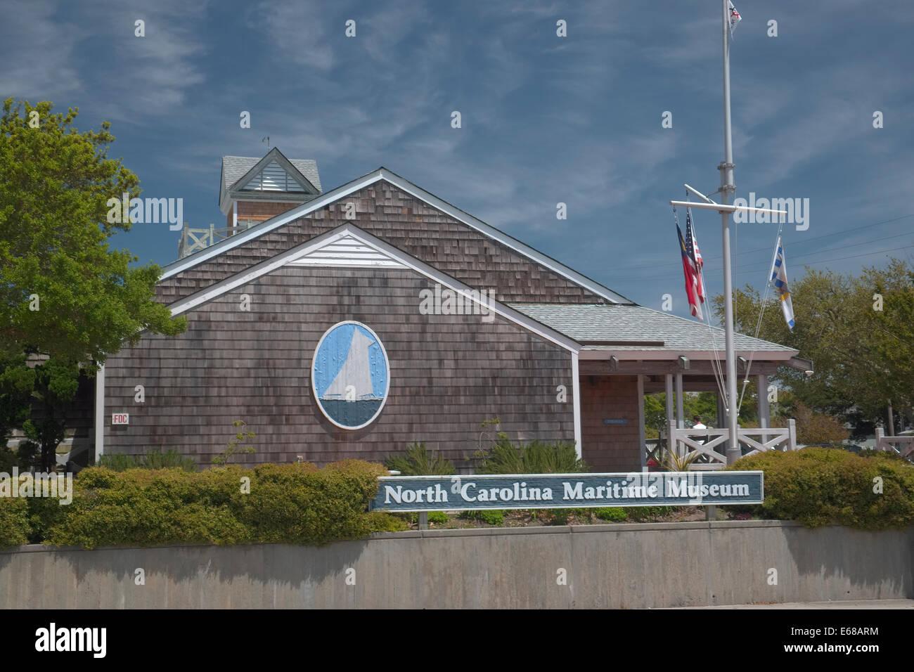 North Carolina Maritime Museum in Beaufort North Carolina. 315 Front Street - Stock Image