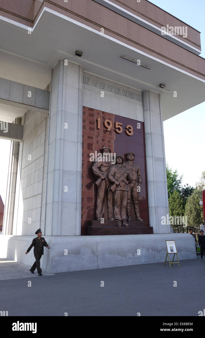 Monument To The Victorious Fatherland Liberation War 1950-1953, Pyongyang, North Korea - Stock Image