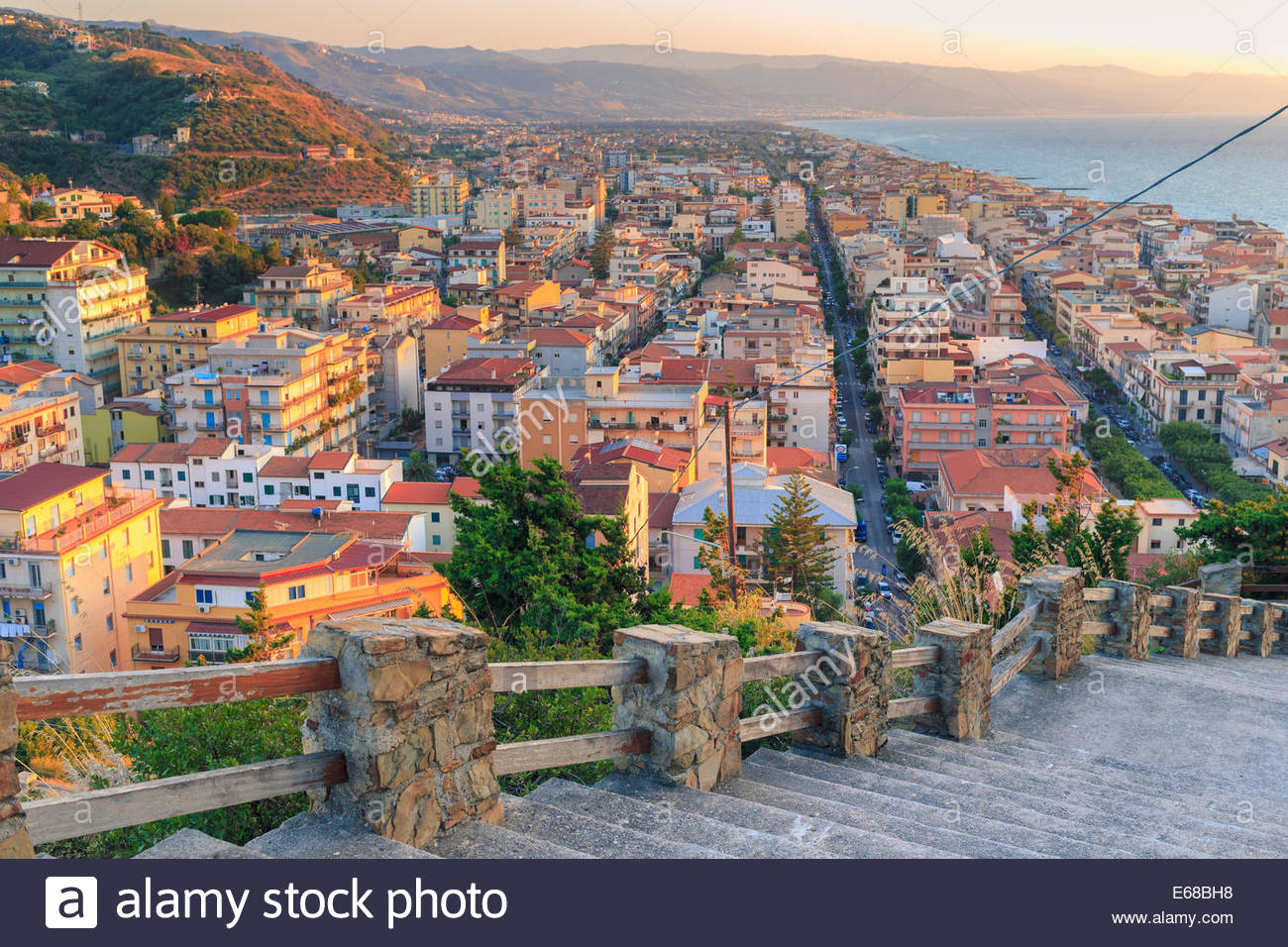 Wonderful panorama of Capo d Orlando (Italy) during sunset. Capo d Orlando  is a comune in the province of Messina f8c45a8785a25