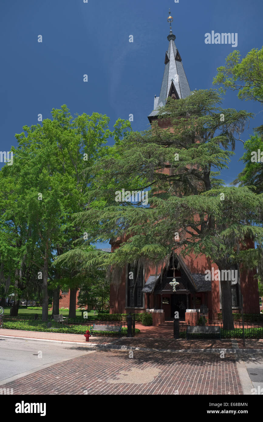 New Bern, North Carolina. Christ Episcopal Church. Pollock Street - Stock Image