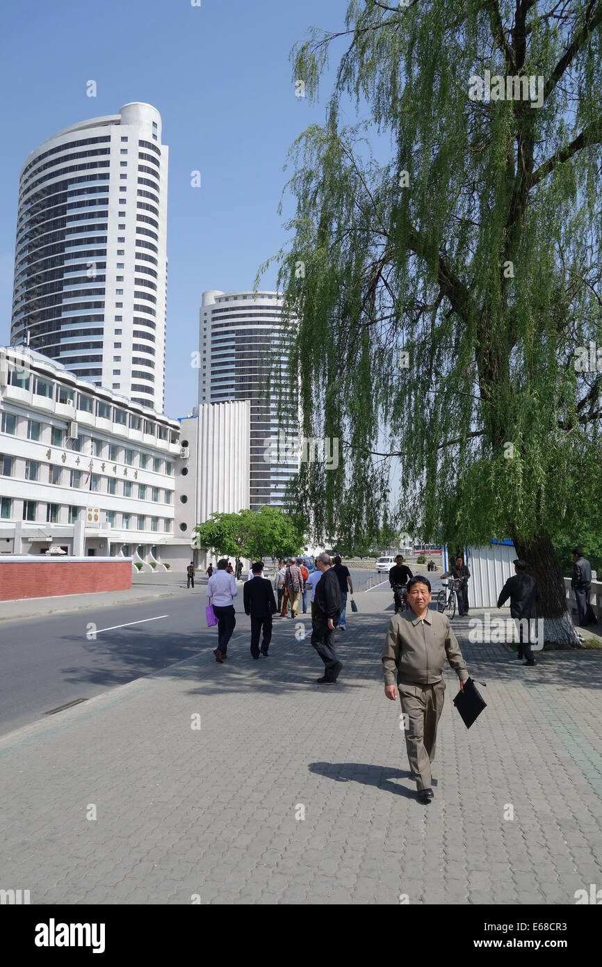 Pyongyang city, North Korea - Stock Image