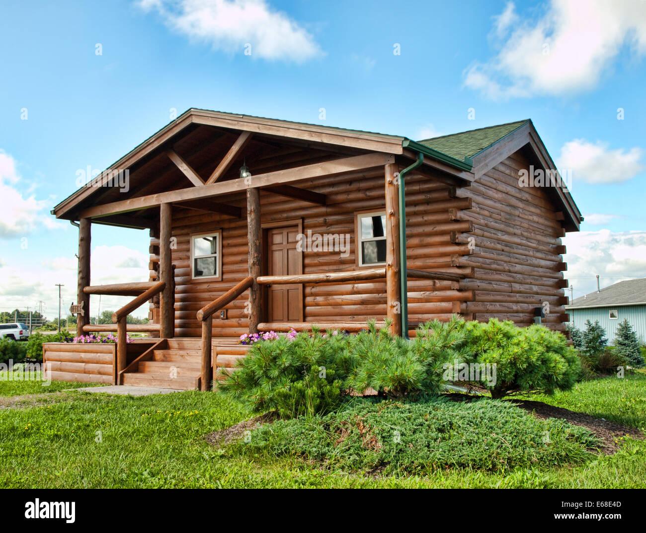 log cabin - Stock Image