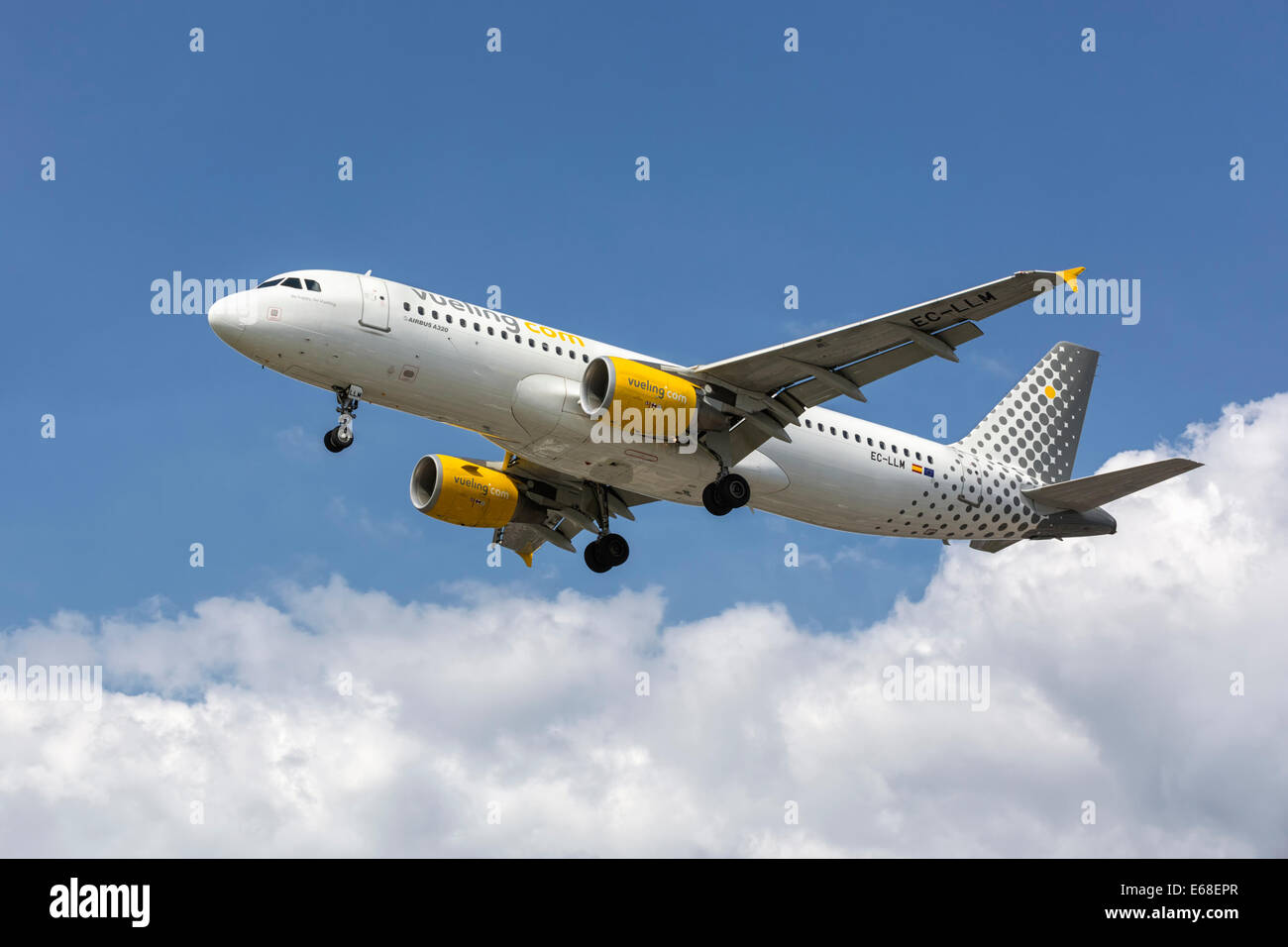 An Airbus A320 of the Spanish airline - Vueling - Stock Image