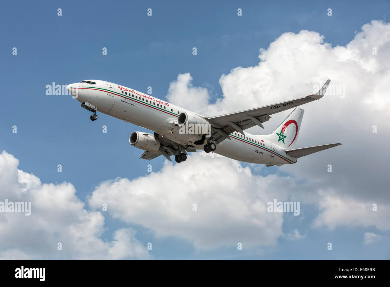 a Boeing 737 of the Morrocan airline Royal Air Maroc - Stock Image