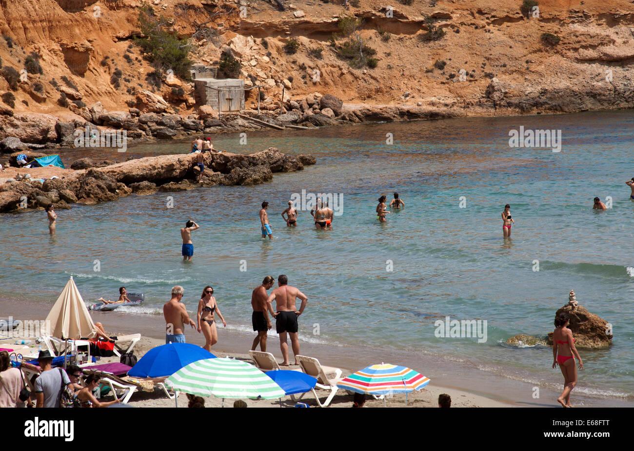 Sa Caleta Beach in Ibiza - Stock Image