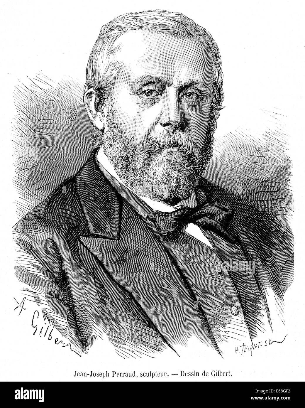 JEAN-JOSEPH PERRAUD (1819-1886) French sculptor - Stock Image