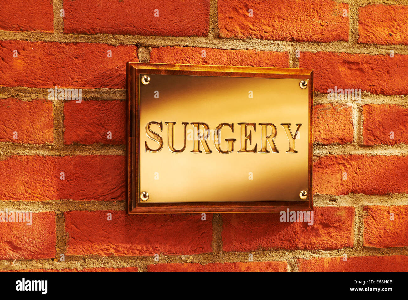 Exterior Surgery Sign - Stock Image