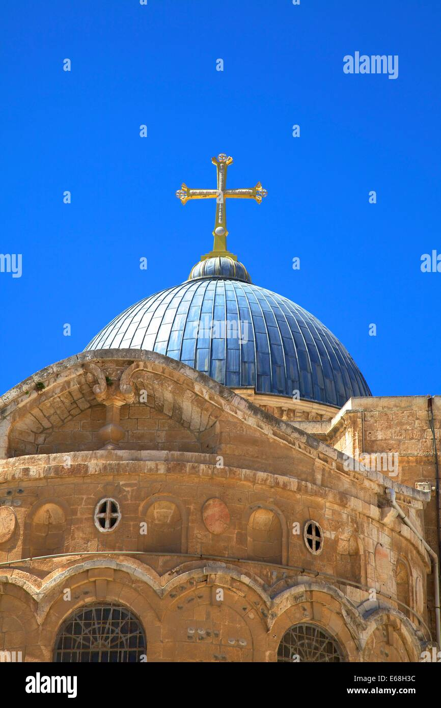 Ethiopian Monastery And Church Of The Holy Sepulchre, Jerusalem, Israel, Middle East - Stock Image