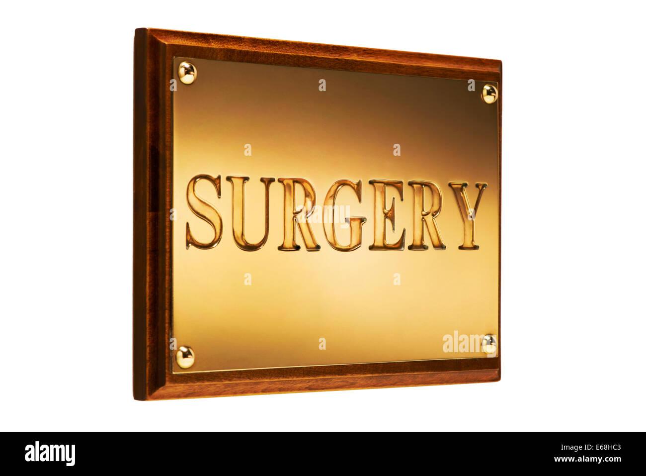 Surgery Sign exterior - Stock Image