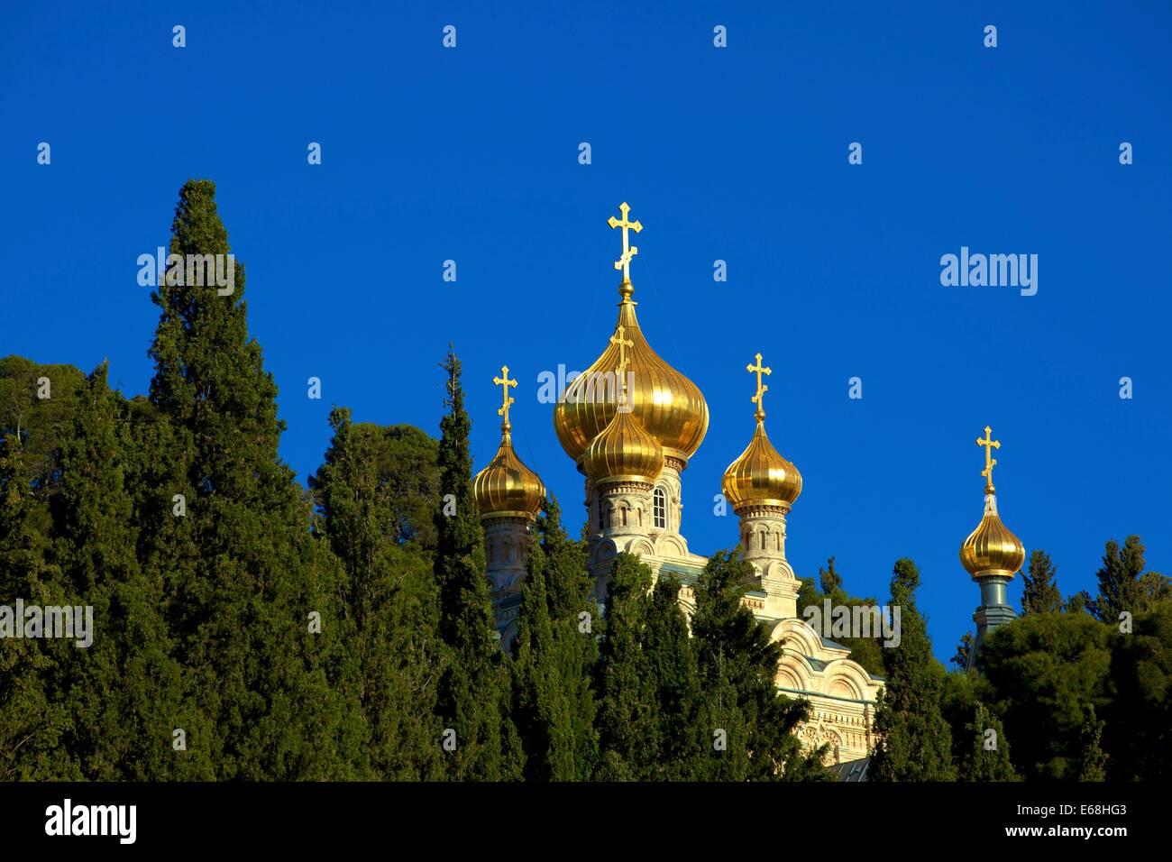 Church Of St. Mary Magdelene, Mount Of Olives, Jerusalem, Israel, Middle East - Stock Image