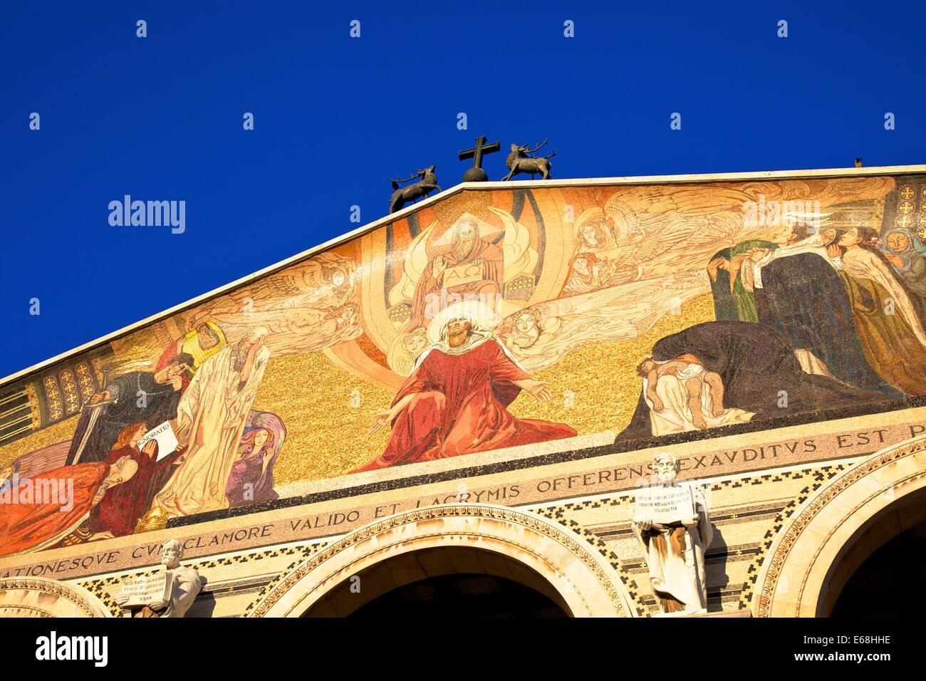 Basilica Of The Agony And Church Of St. Mary Magdelene, Garden Of Gethsemane, Jerusalem, Israel, Middle East - Stock Image