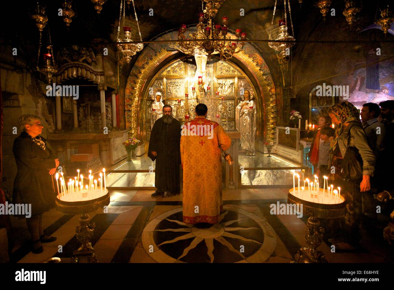 Golgotha, Church Of The Holy Sepulchre, Jerusalem, Israel, Middle East - Stock Image
