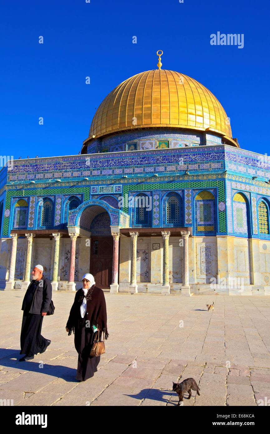 Temple Mount, Jerusalem, Israel, Middle East, - Stock Image