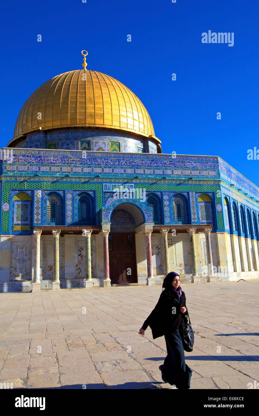 Temple Mount, Jerusalem, Israel, Middle East, - Stock Image