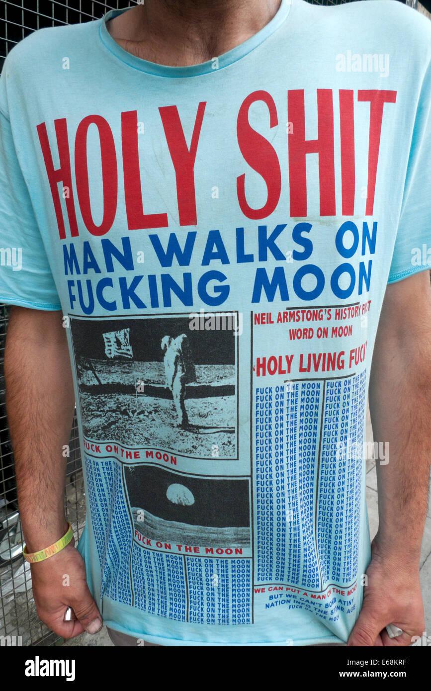 Holy shit man walks on fucking moon