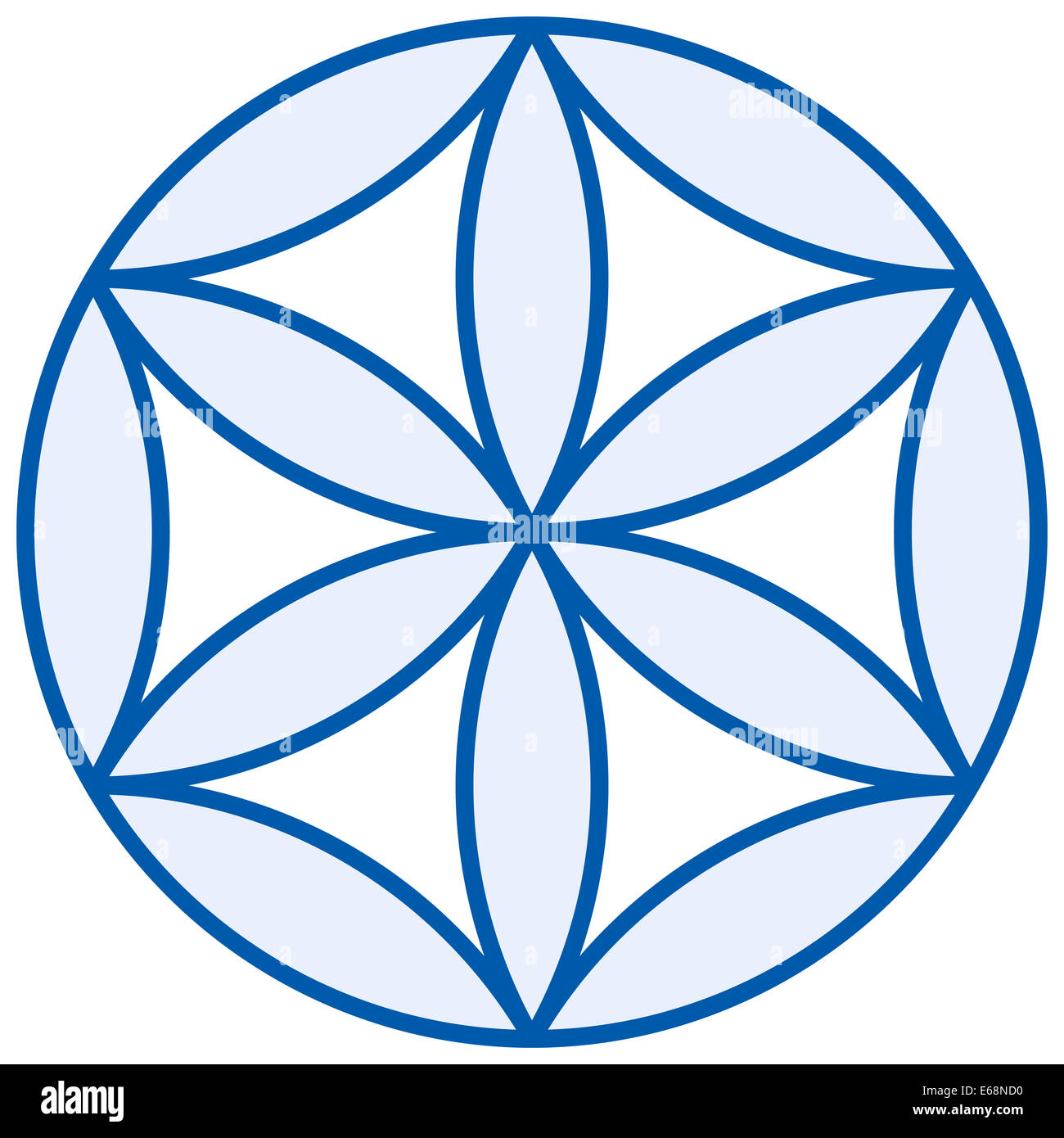 Baby Flower of Life - Stock Image