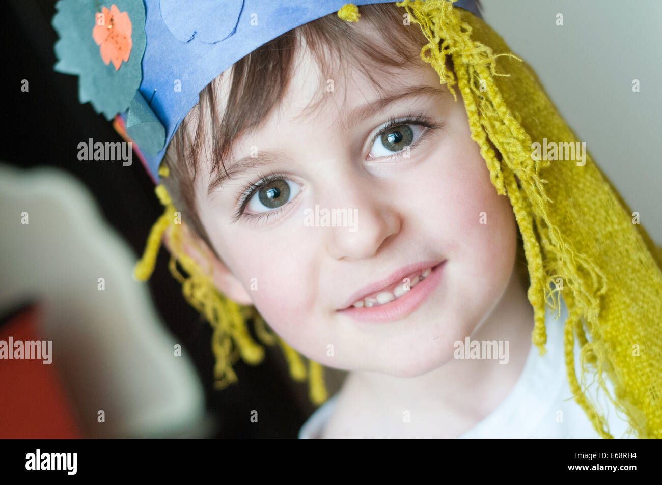 Child disguise - Stock Image