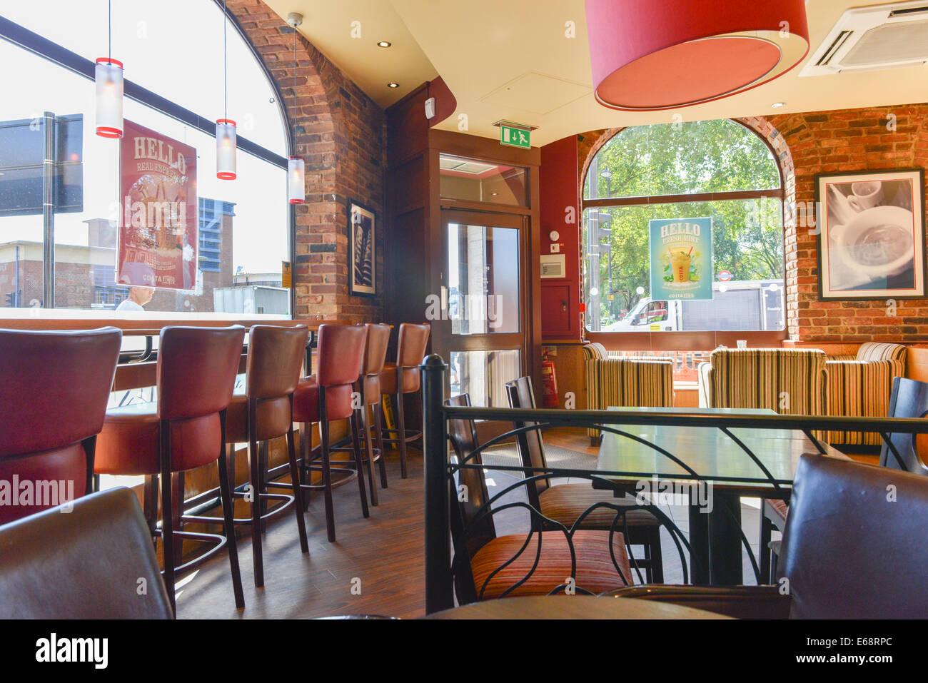 Inside A Costa Coffee Shop Cafe In Turnpike Lane London