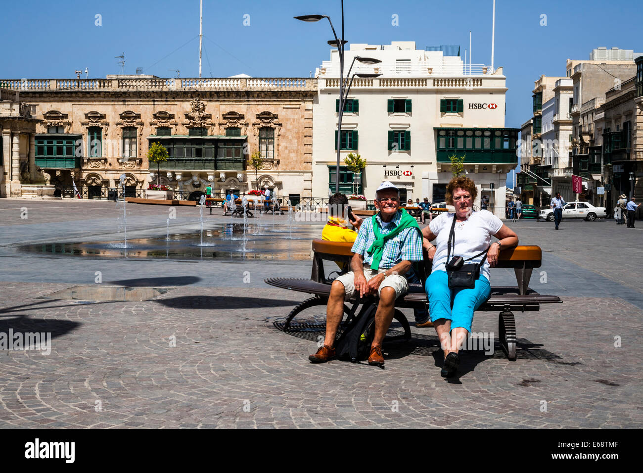 Saint George's Square, Valletta, Malta. - Stock Image
