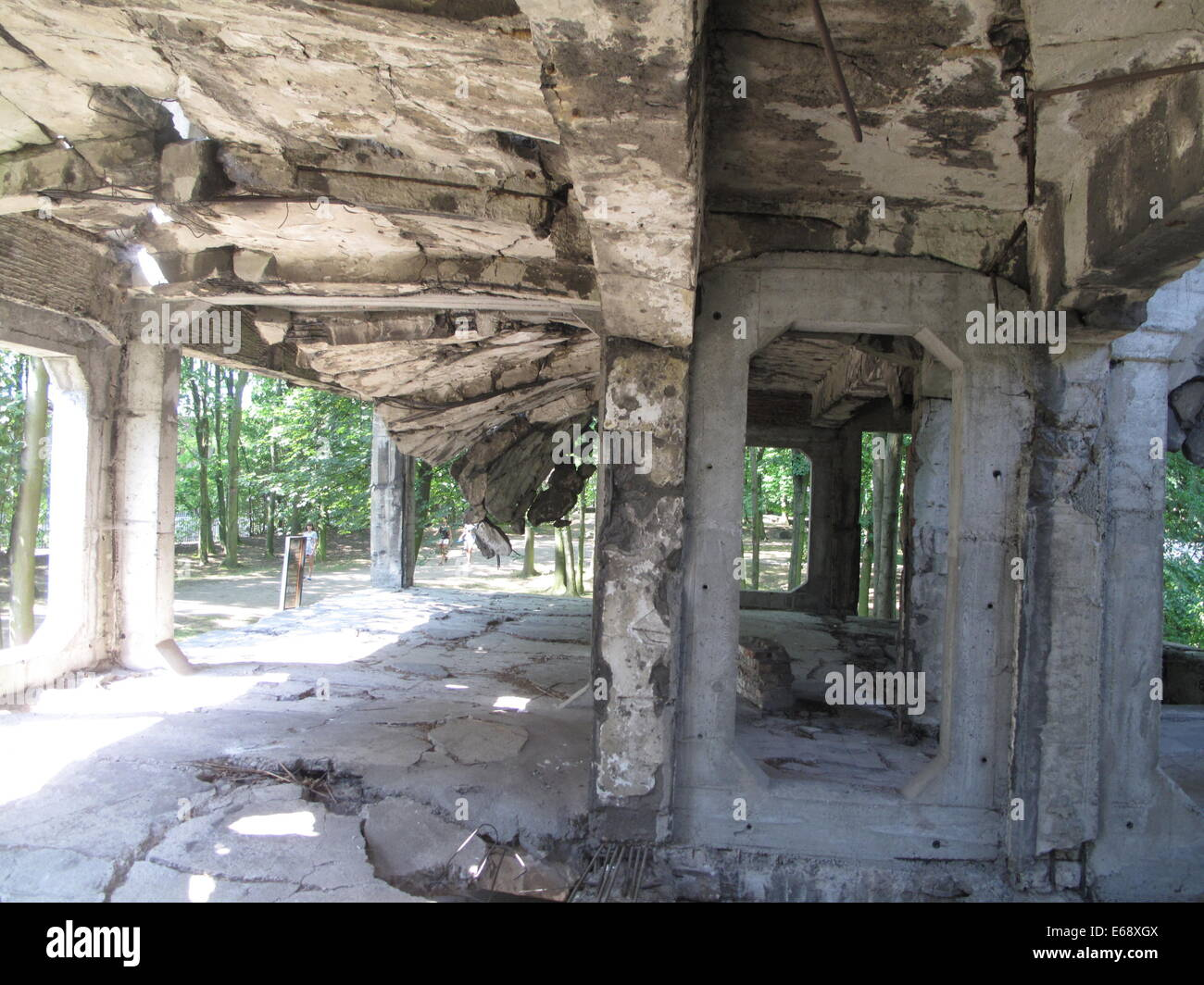 Gdansk, Poland. 29th July, 2014. A ruin is pictured on the Westerplatte peninsula near Gdansk, Poland, 29 July 2014. Stock Photo
