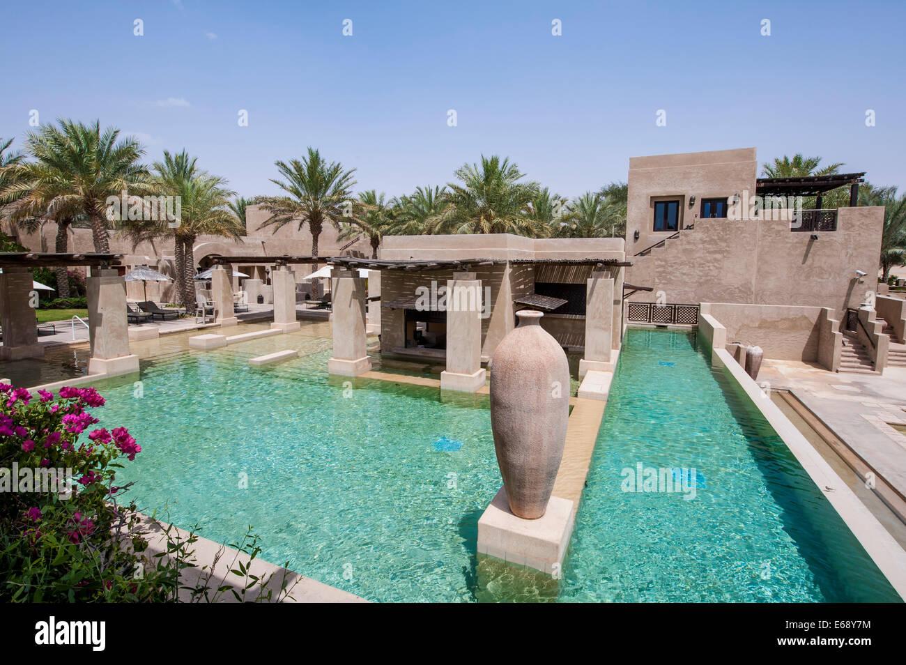 Swimming Pool Deck Patio Area At The Bab Al Shams Desert Resort Stock Photo Alamy