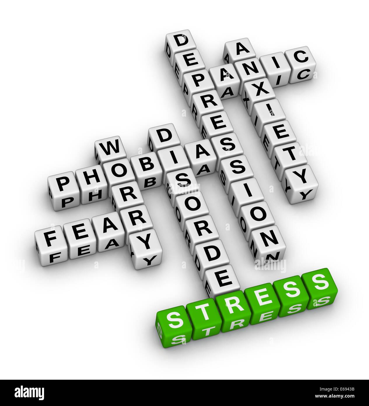 Mental Health Crossword Puzzle Stock Photo 72730207 Alamy