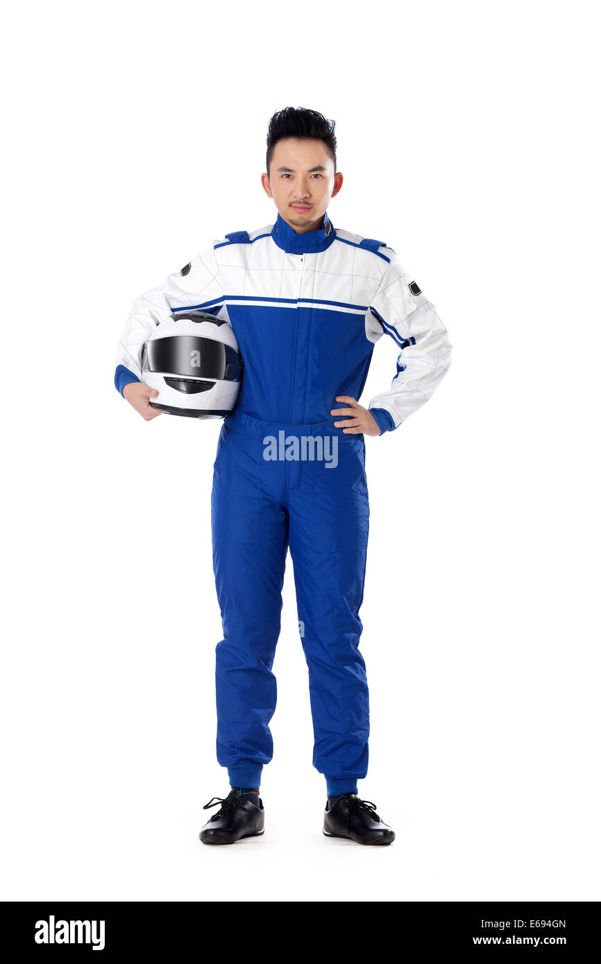 Young race car driver - Stock Image