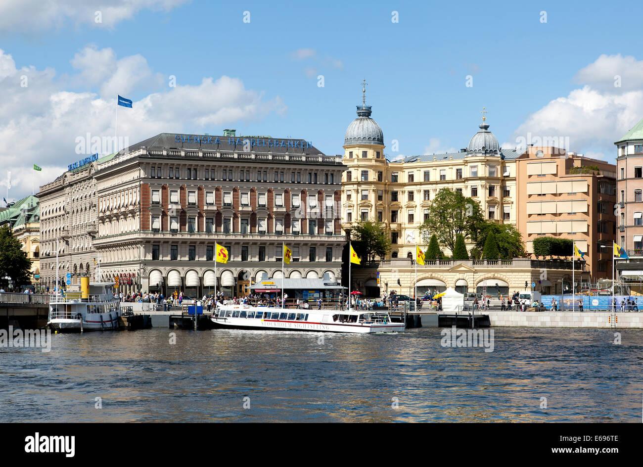 Swedish Trade Bank, Svenska Handelsbanken, head office, commercial building, Stockholm, Stockholms län or Stockholm - Stock Image