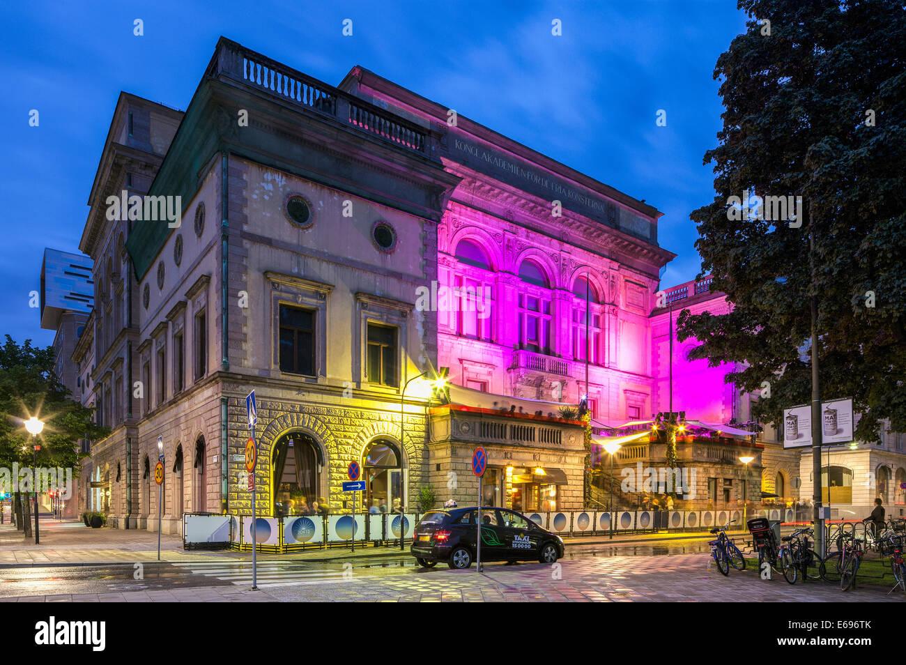 Royal Academy of Arts, Kungliga academies för de fria konsterna, Skeppsholmen, Stockholm, Stockholms län - Stock Image