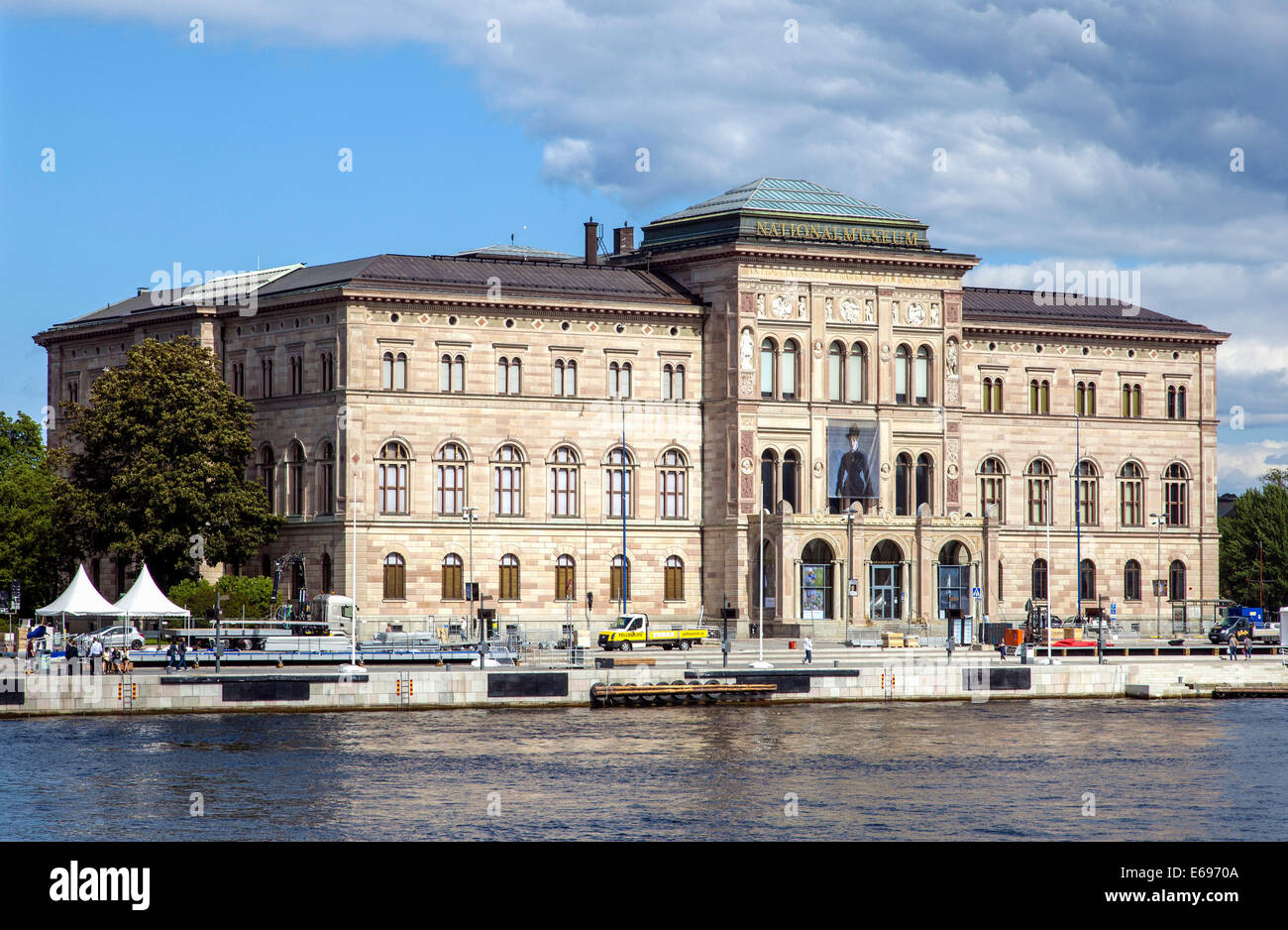 Nationalmuseum or National Museum of Fine Arts, art collection, art gallery, by architect Friedrich August Stüler, - Stock Image