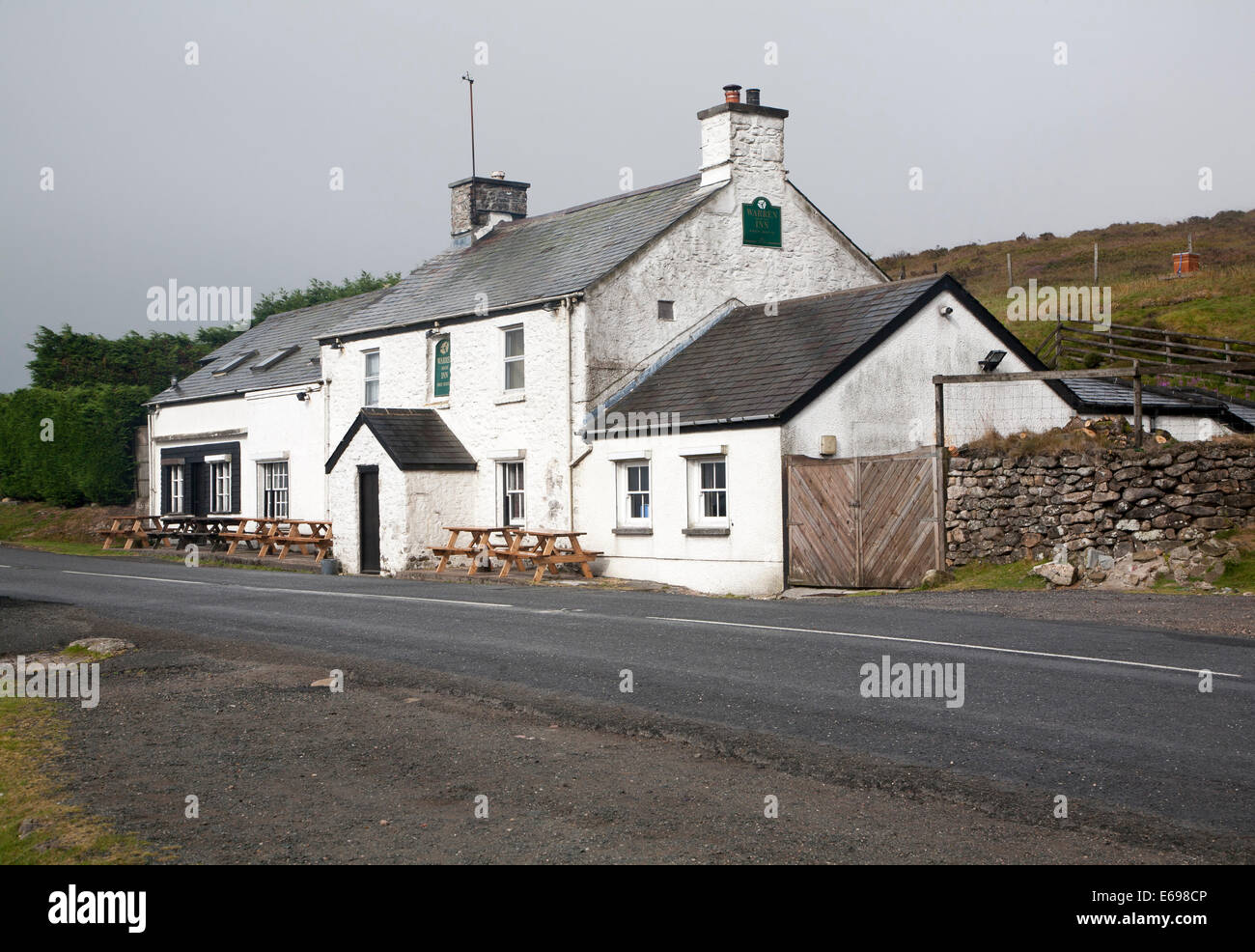 Warren House Inn, Postbridge, Dartmoor national park, Devon, England - Stock Image