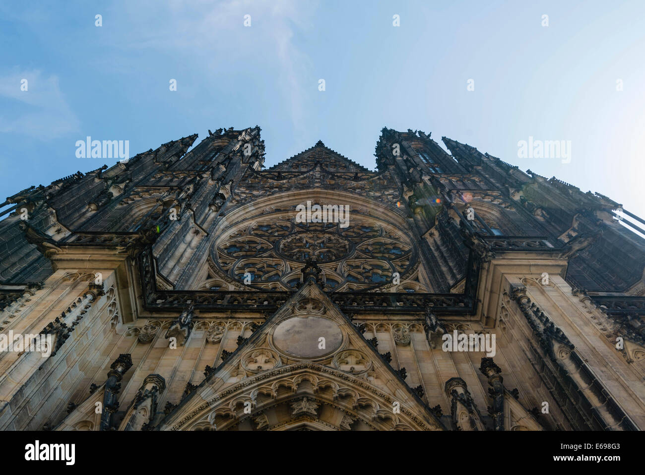 St. Vitus Cathedral, Prague Castle, Hradcany, Prague, Czech Republic Stock Photo