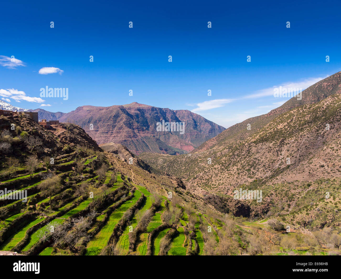 Atlas Mountains, Anammer, Ourika Valley, Marrakech-Tensift-Al Haouz, Morocco - Stock Image
