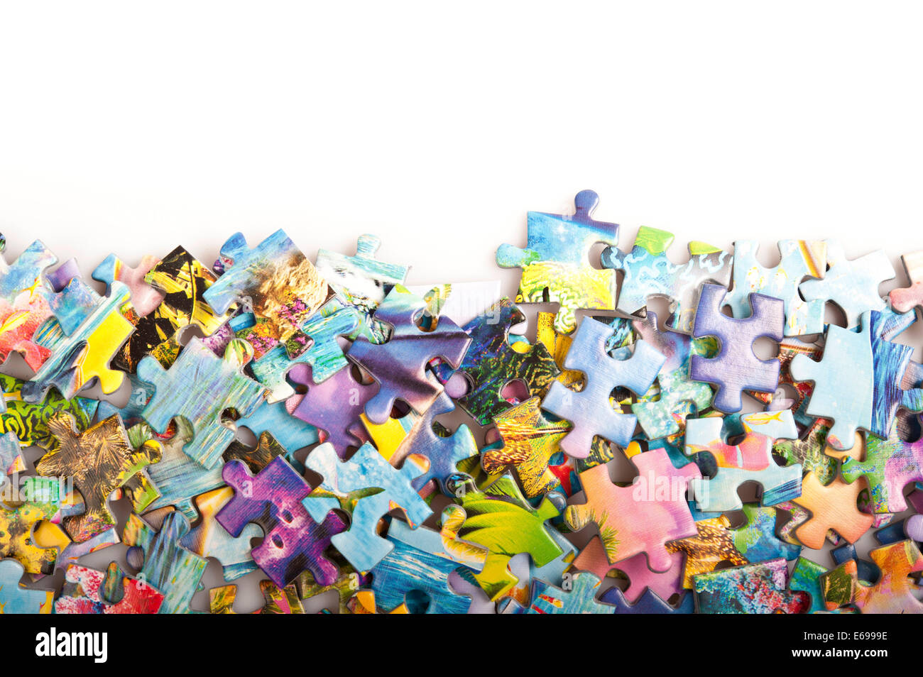 jigsaw puzzle pieces - Stock Image