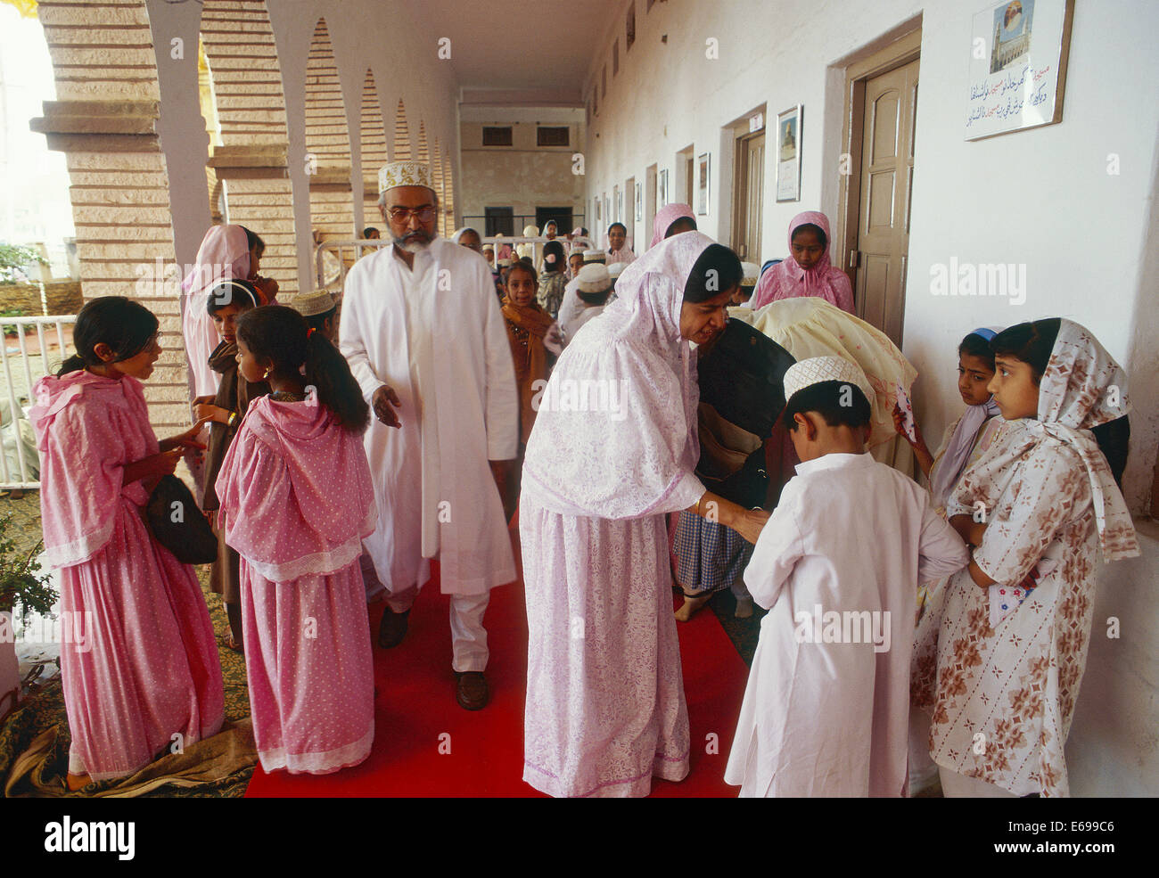 People belonging to the Dawoodi Bohra community ( India) - Stock Image