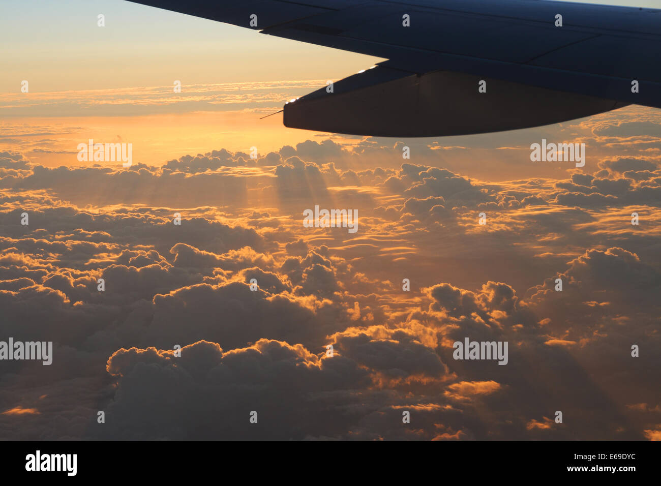 cloudscape,flight,flying,airfoil - Stock Image