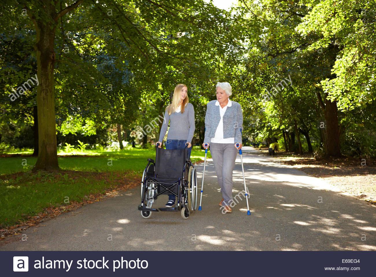 senior,rehabilitation,physiotherapist - Stock Image