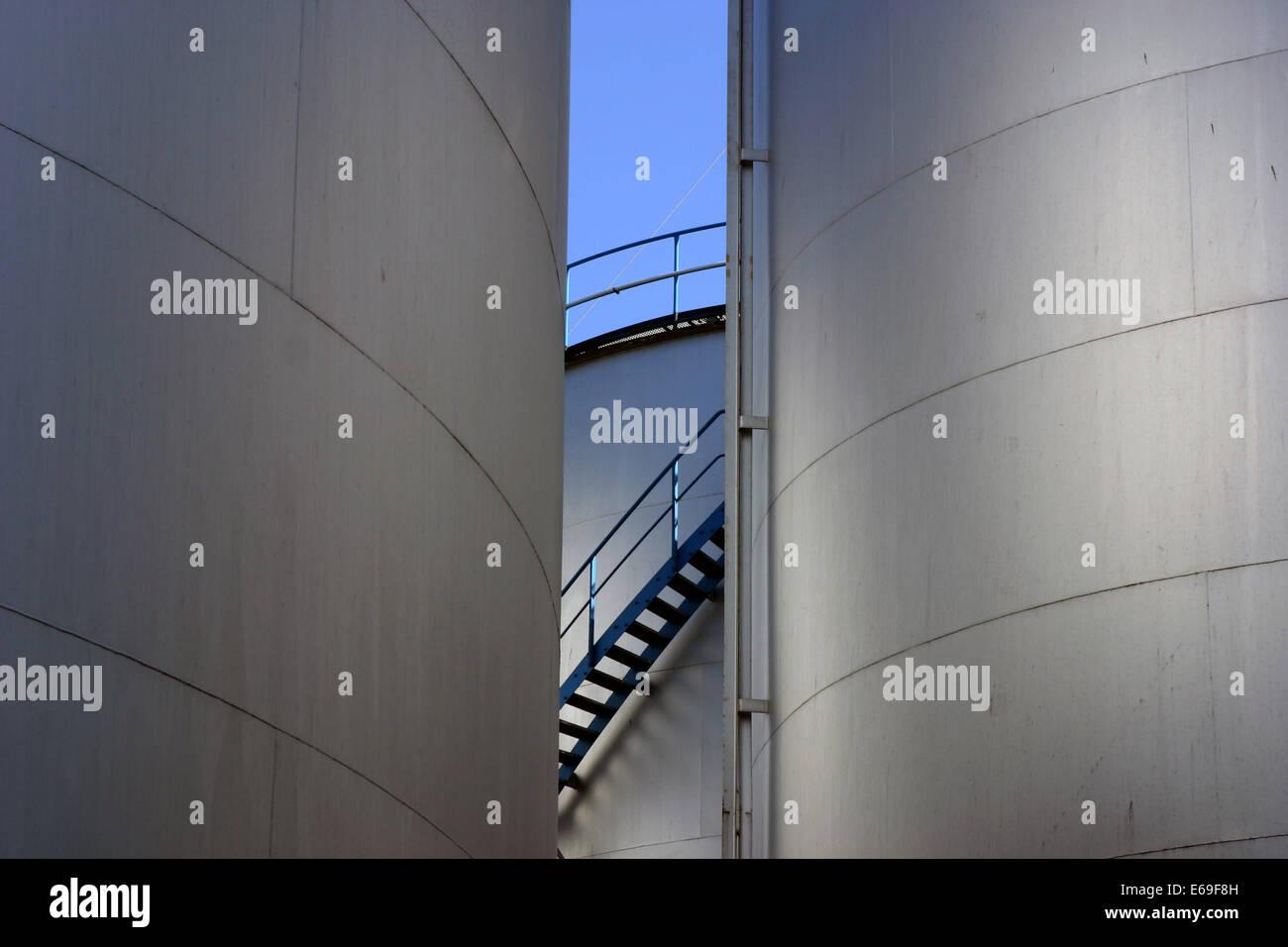 tank,storage tank - Stock Image